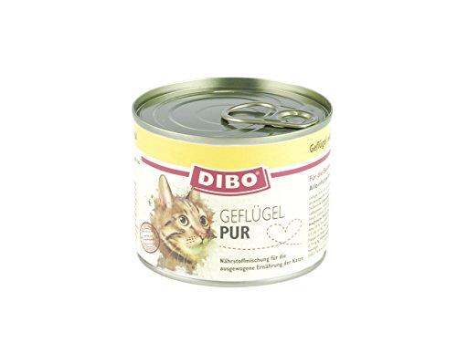 DIBO CAT GEFLÜGEL, 200g-Dose aus ausgesuchtem Geflügel hergestellt und mit Katzenminze und Lachsöl verfeinert