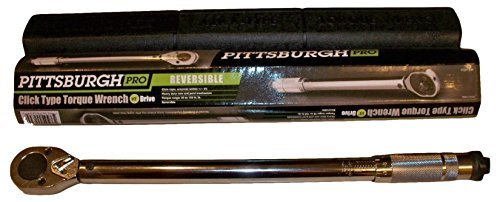 Pittsburgh Professional 1/2' Drive Click Stop Torque Wrench by PITTSBURGH
