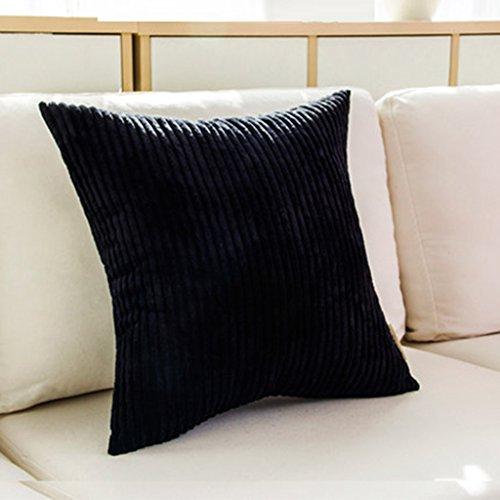 Velours noir à rayures Coussins ou couvre seulement en 4 Belle Couleurs