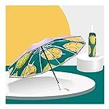 BOLE Portátil Durian Reverse Parasol, Titanium 10 Costillas, UPF automático □ 50 +, Regalo para niñas, Recubrimiento de Plata Protección Solar, Hombre y MujerMbrella, Soleado y lluvioso Exterior