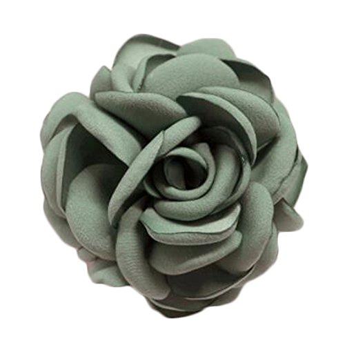 Elegant Flowers Brooch Sweater Cardigan Chest Flower Pin pour les dames, Vert