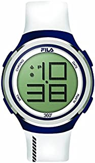 unisex de pulsera reloj digital cuarzo 38 – 038 – 103 Fila Casual Color Blanco Azul Silicona