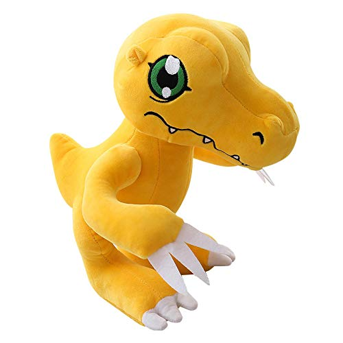 rodjl Figura De Anime Agumon Muñeco De Peluche Dinosaurio Amarillo Animales De Peluche Suaves Juguetes para Niños 35Cm