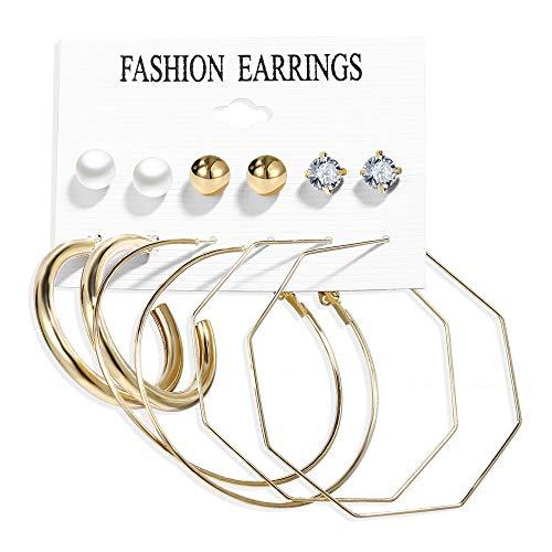 Juego de pendientes de moda de metal vintage con borlas colgantes de perlas bohemias de acrílico acetato placa concha pendientes mujer joyas regalo para mujeres Lady Girls Prime