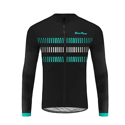 Uglyfrog Stagione Estiva Uomo Sport e Tempo Libero Abbigliamento Ciclismo Magliette Manica Lunga Traspirante Tasche Posteriori