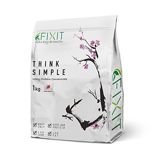 FIXIT プロテイン ホエイ プロテイン 人工甘味料不使用 THINK SIMPLE 1kg WPC (プレーン)