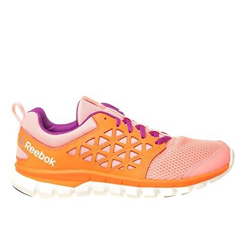Reebok Sublite Xt Cushion 2.0, Scarpe da Trail Running Bimba 0-24, Rosa (Peppy Pink/Vitamin con White/Aubergine/SIL), 23.5 EU