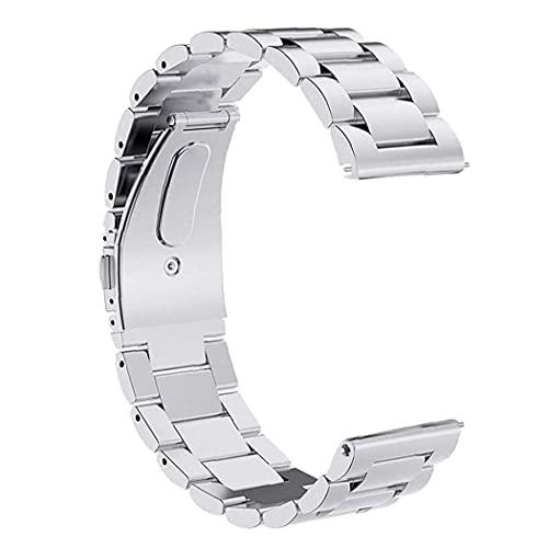 Yililay Inteligente Correa de Reloj de 20 mm de Acero Inoxidable Pulsera de la Venda Compatible con Apple Compatible withHUAWEI Plata económico práctico