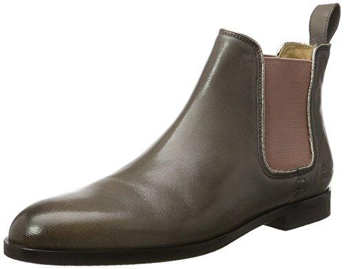 Melvin & Hamilton Damen Susan 10/ R Chelsea Boots, Grau (Salerno Rope/Binding Metallic, Ela. Rose, Hrs), 39 EU