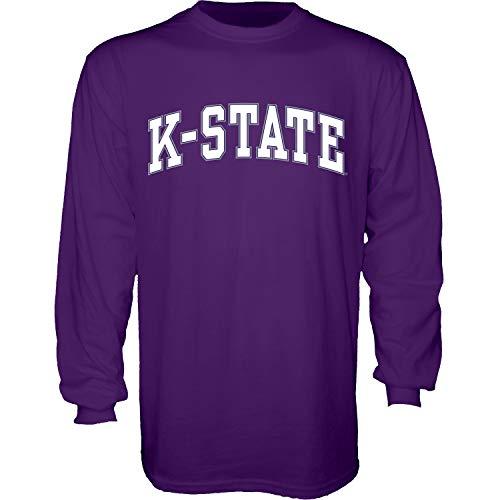 The Blue Brand Blue84 NCAA Kansas State Wildcats Herren T-Shirt Arching Team Name Langarm Kansas State Wildcats Lila, XXL