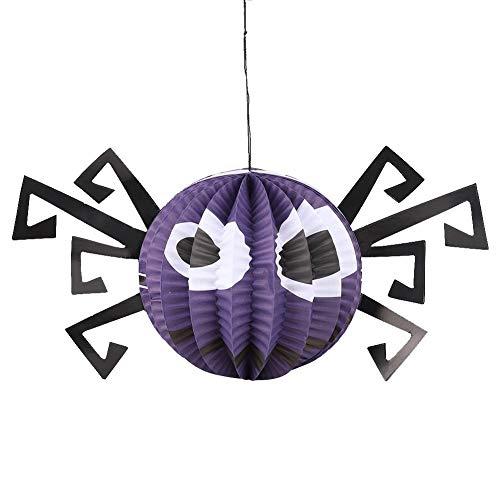 Mumusuki Halloween-papieren lantaarns hangers Halloween-hanger decoratie pompoen lantaarn spin Bat Skeleton lantaarn voor Halloween-partydecoratie geschenken voor kinderen binnen en buiten spin.