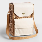 Corsica Wine and Cheese Insulated Willow Picnic Basket   World Market