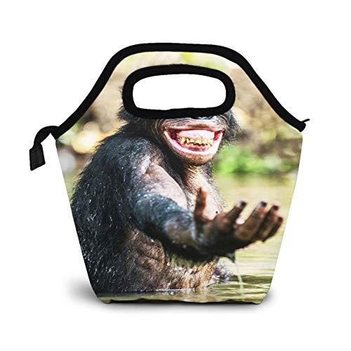 Bolsa Térmica Comida Bolsas De Almuerzo para Mujeres Hombres Niñas Niños Bolsa Isotérmica De Almuerzo Placer de agua sonriente