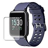 Vaxson 3 Stück Schutzfolie, kompatibel mit Yamay 1.3' Smart watch Smartwatch SW020, Displayschutzfolie Bildschirmschutz Blasenfreies TPU Folie [nicht Panzerglas]