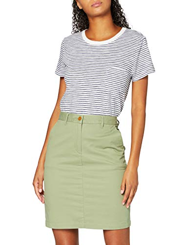GANT Damen Classic Chino Skirt Rock, Grün (Oil Green 348), (Herstellergröße:36)