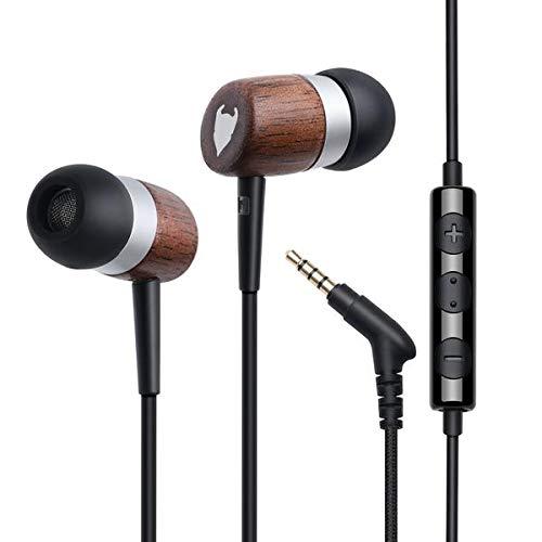 MediaDevil Artisanphonics CB-01 Auricolari in Legno Premium con potenziamento Audio in Autentico grafene Nanene e Microfono Incorporato (iOS/Android)