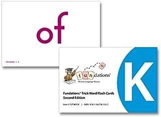 Fundations® TRICK WORD FLASHCARDS K