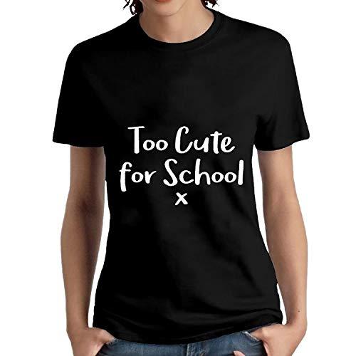 NITHG Funny T Shirts Voor Vrouwen, Te Leuke Voor School Dames T Shirt Casual Katoen Crew Neck Korte Mouw Sport Top