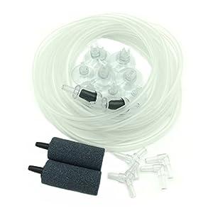 PietyPet-21-Stck-Standard-Air-Luftpumpe-Zubehr-Luftschlauch-mit-Ausstrmerstein-Aquarium-Runde-Steins-Rckschlagventil-Saugnapfklammern-Steckverbinder