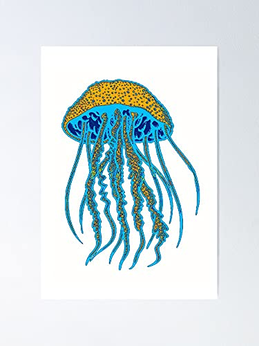 AZSTEEL Deep Sea Swim Poster   Best Gift for Family and Your Friends 12x17 Inch