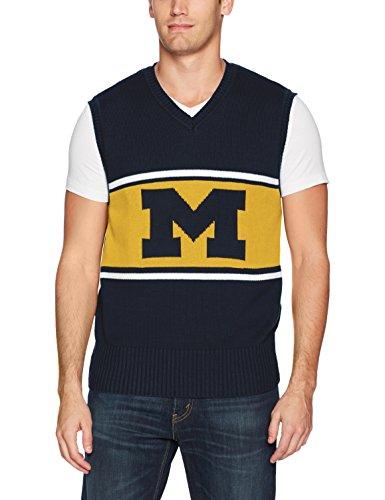 OTS NCAA Michigan Wolverines Men's Sweater Vest, Logo, Large