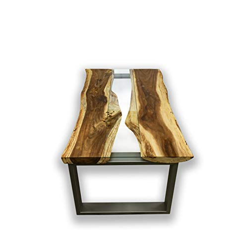 Mienloco Suar tafel massief hout Mammut boomstam 220-240cm acacia eettafel natuur 100 x 210 cm