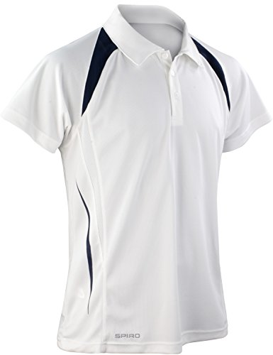 Result Cool-Dry Funktions-Poloshirt Team Spirit S177M, Farbe:White/Navy;Größe:3XL