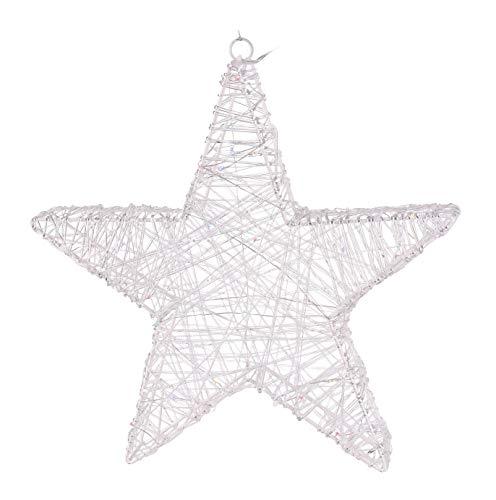 Kerstster LED kleurrijk Ø 40 cm met timer batterij ster kerstverlichting
