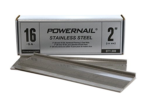Powernail 16ga 2' Stainless Steel L-Style PowerCleats (box of 1000)