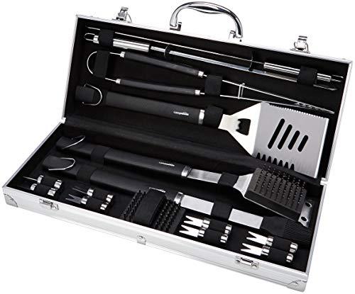 Amazon Basics - Juego de utensilios para barbacoa, 15 piezas