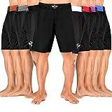 Elite Sports NEW ITEM Black Jack Series Fight Shorts,Black,XX-Large