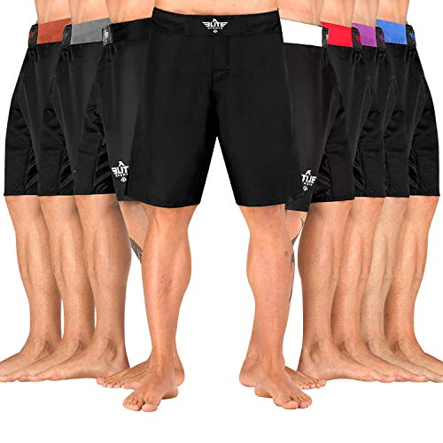 Elite Sports NEW ITEM Black Jack Series Fight Shorts,Black,Medium