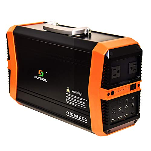 Sungzu 500 watt Solar Generator Portable Power Station, 550Wh Emergency Portable Generator Battery Backup Power Supply with AC DC USB for Home CPAP Laptop Light Drone Camera Phone Camping Power Generators