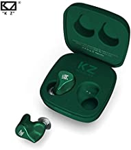 EZ EAR KZ Z1 Newest Bluetooth Headset Wireless Earbuds for iPhone Andriod HiFi Sound 100 H Playtime with Charging Case Touch Control Noise Cancelling Headphone for Game/Work Out (Green)