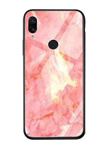 Oihxse Colorido Gradual Cristal Estilo Case Compatible con Xiaomi Redmi Note 6/Note 6 Pro Funda Vidrio Templado Trasera Carcasa Borde de Silicona Suave Protectora Ultra Fino Anti-arañazos