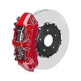 OMAC Bremssattellack Bremssattelfarbe Auto Lack Set   Bremsenreiniger und das Härtemittel Hitzebeständig Komplettsatz für 4 Bremssättel 7-teiliges Texas Rot (Glänzend)