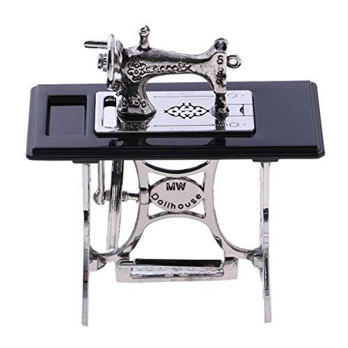 IPOTCH 1/6 Exquisita Máquina De Coser Modelo Decoración De Mesa Adornos De Muebles De Escritorio