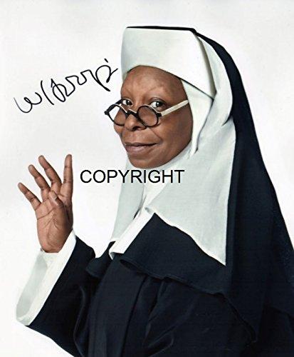Whoopi Goldberg fotografia firmato edizione limitata + stampato Autograph
