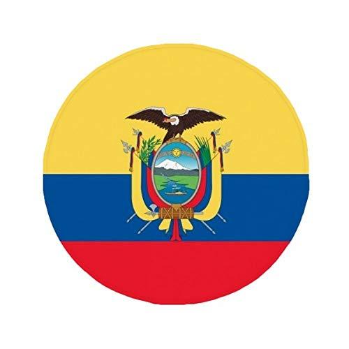 DIYthinker Ecuador Bandera Nacional País De América del Sur Alfombrilla Antideslizante Alfombra Pet Redonda baño salón Cocina Puerta 80cm Regalo