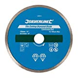 Silverline Tools 571499 Disco de Corte Diamantado para Azulejos, Borde Continuo, 110 mm x 22.23 mm, Multicolor