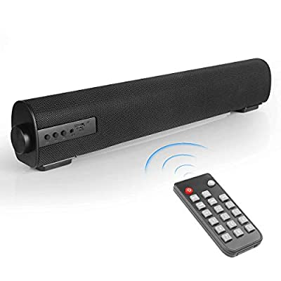 VANZEV Soundbar 2.0 Channel Portable Bluetooth Computer Speaker Wired & Wireless Up to 85DB Audio Stereo Sound Bars for TV PC Tablet Mobiles, Best for Indoor Outdoor Use from Wanzhewei