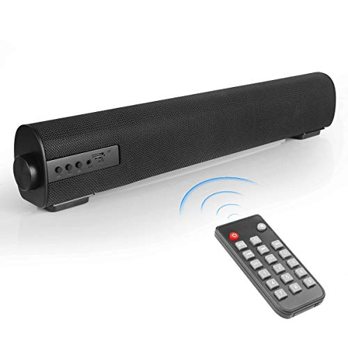 VANZEV Soundbar 2.0 Canal Altavoz portátil Bluetooth con cable e inalámbrico hasta 85 DB Barras de sonido estéreo para TV, PC, tableta, móvil, ideal para uso en interiores y exteriores