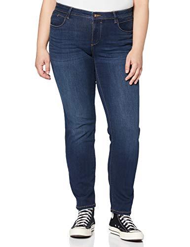 TOM TAILOR für Frauen Jeanshosen Alexa Slim Jeans Dark Stone wash Denim, 26/32