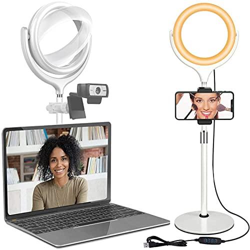 Desk Ring Lighting for Zoom Meeting- Selfie Photo Light for...