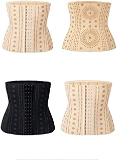 DHINGM High-end Big-Name Slimming Belt, Abdomen Belt Waist Straps, Plastic Waist Slimming Clothes, Thin Belly, Slim Body Shaping, Sexy Lace, Breathable, (Color : Color, Size : L)