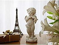 彫刻彫像装飾置物天使演奏ギター彫像工芸品家の装飾彫刻家の付属品-B_As_ShownC
