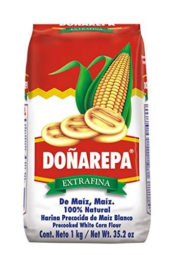 Doña Arepa - Farina di mais bianco - Prepara arepas e altri piatti con questa incredibile farina - 1 kg.