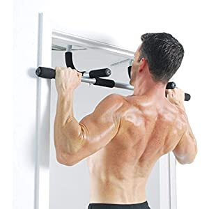 LJCY Doorway Pull Up Bar,Door Trainer,Strength Training,Multi-Grip Chin Up Bar Exercise Bar Total Upper Body Workout Bar Home Gym Equipment
