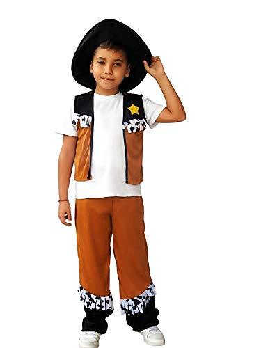 Disfraz de vaquero - niño - disfraces infantiles - halloween - carnaval - cosplay - talla s - 3/4 años - idea de regalo original cosplay