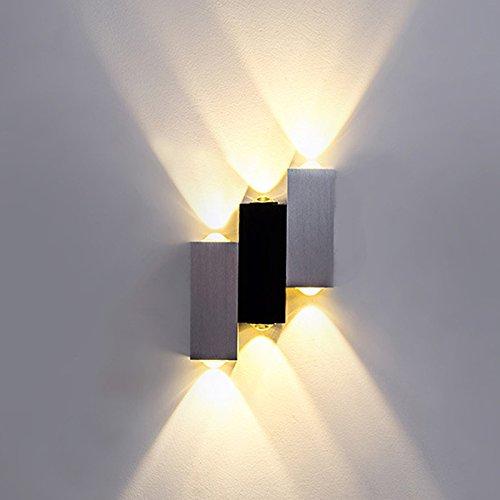 Couloir En Aluminium Mur Lampe Moderne Salon Chambre Chambre Chevet Salle à Manger Chambre Balcon Hôtel Projet LED Up And Down étanche Jardin Mur Lampe 6 W,WarmLight